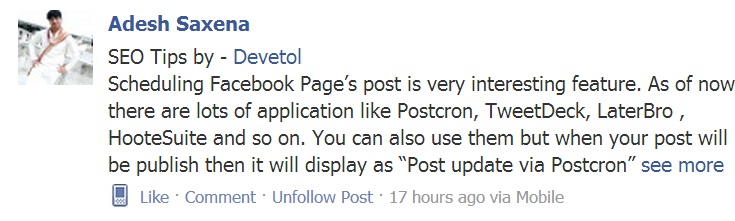 "How to add ""see more"" link on Facebook Post"