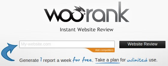 Site Structure Analysis tool WooRank